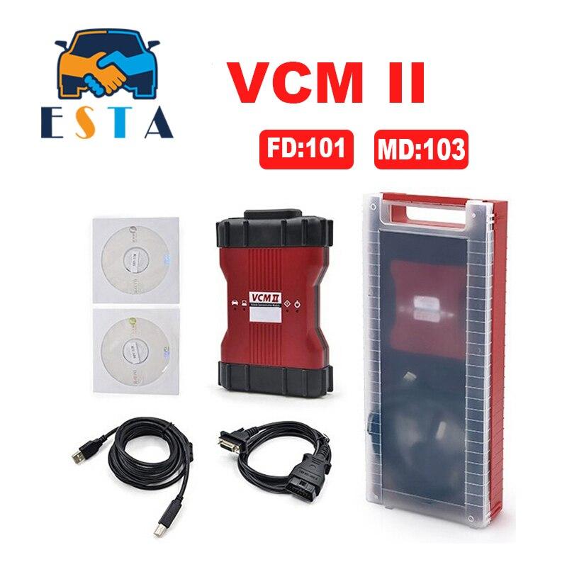 Prix pour Livraison rapide VCM 2 V101 De Diagnostic Scanner pour fo-rd pour mazda VCM IDS II Prend En Charge tous les F-ord Véhicules IDS VCM2 OBD2 Scanner
