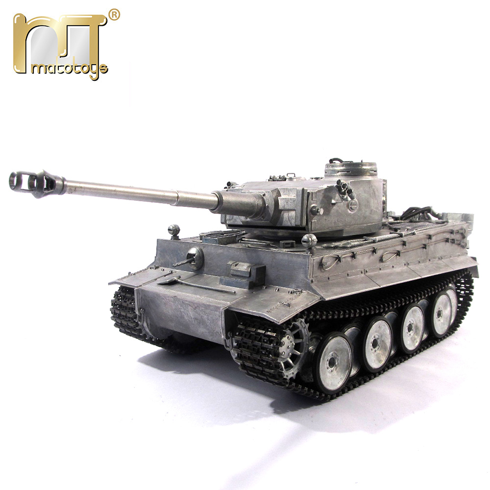 MATO 1220 100% Metal 2.4G RC Tank 1 16 Tiger Jerman 1 Battle Inframerah Recoil Barrel BB Menembak Airsoft Siap Untuk Main VS Tamiya