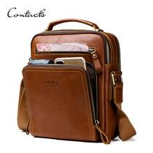 8cd3c52717e4 (Отправка из RU) Контакта повседневное для мужчин's курьерские сумки пояса  из натуральной кожи сумки на плечо для мужчин Элитный бренд мужской су.