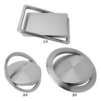 Stainless Steel Flush Recessed Built in Balance Swing Flap Lid Cover Trash Bin Garbage Can Kitchen Counter Top