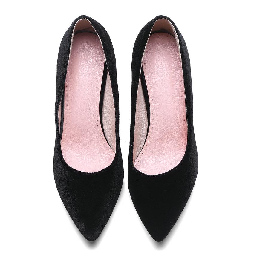 Or Taille Peu Tasslynn Rouge Profondes Chaussures Hauts De Printemps Pompes 34 Mariage 43 2018 Femmes Pu Velours Femme Talons Carré Noir Bout Pointu vin FtrqtZU