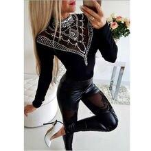 2019 Women Ladies High Waiste Lace Leather Wet Look Leggings Pants Trousers Plus Size Hot Sale