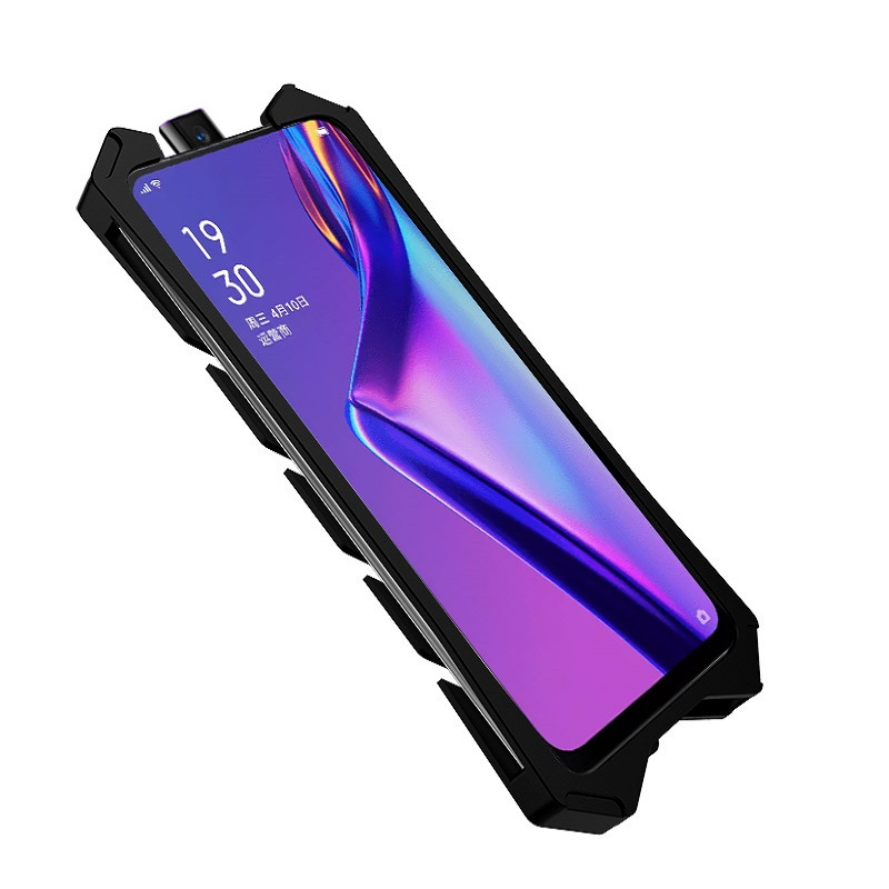Image 3 - OPPO Realme X case Metal case for OPPO A9 K3 Powerful Shockproof case for OPPO Realme X Zimon heavy duty protection armor coque-in Fitted Cases from Cellphones & Telecommunications