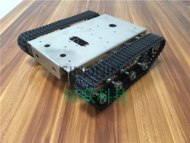 Stainless steel Robot Tank Chassis Platform shock absorber crawler suspension intelligent trolley SN4200 книги эксмо изучаю мир вокруг для детей 6 7 лет