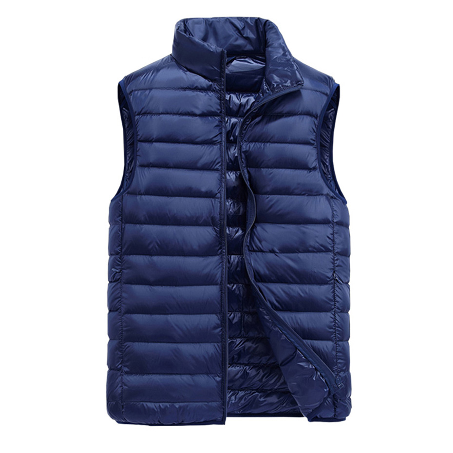 Zogaa 2019 New Men's Sleeveless   Down     Coats   Ultralight White Duck   Down   Warm Vest Men's Casual Jackets Parka Outwear Waistcoat