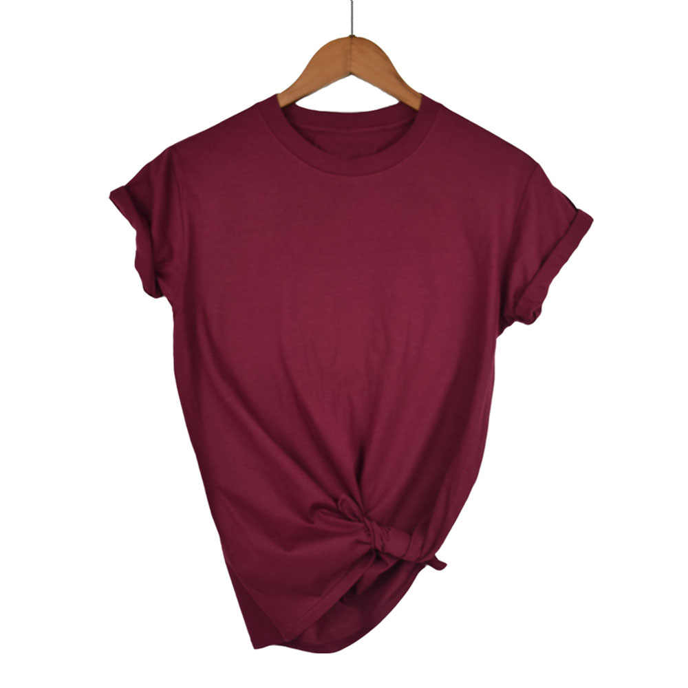 323cb68c296 2018 100% хлопок Высокое качество 13 Цвет модная летняя футболка Для женщин  Основные футболки женские