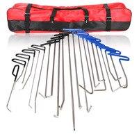 21 шт. FURUIX PDR крючки инструменты Paintless Дент удаления tool kit толкатель автомобильный лом ручной набор