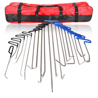 21 pcs FURUIX PDR hooks tools Paintless Dent removal tool kit Push Rod Car Crowbar hand tools set