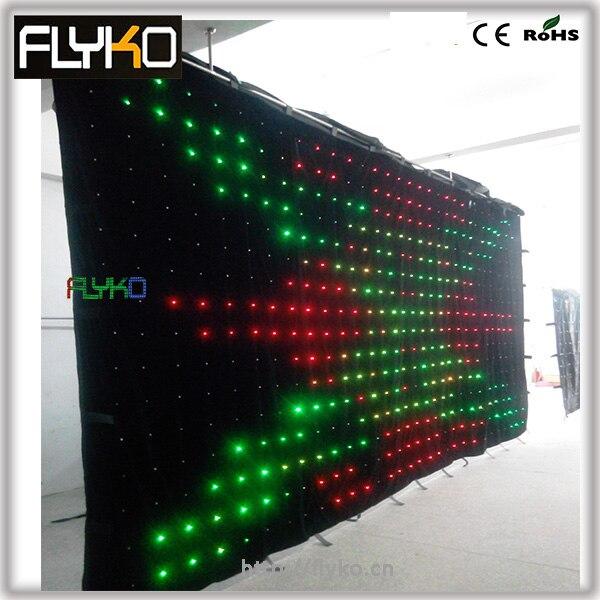 6 メートル * 3 メートル p18cm led ビデオ カーテン で pc コントローラ キャリーバッグ 、 2 ギガバイト sd カード 、 ソフトウェア|舞台照明装置|ライト & 照明 -