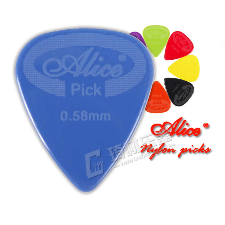 אליס אנטי להחליק ניילון גיטרה מבחר Plectrums, מד 0.58mm/0.71mm/0.81mm/0.96mm/1.20mm/1.50mm
