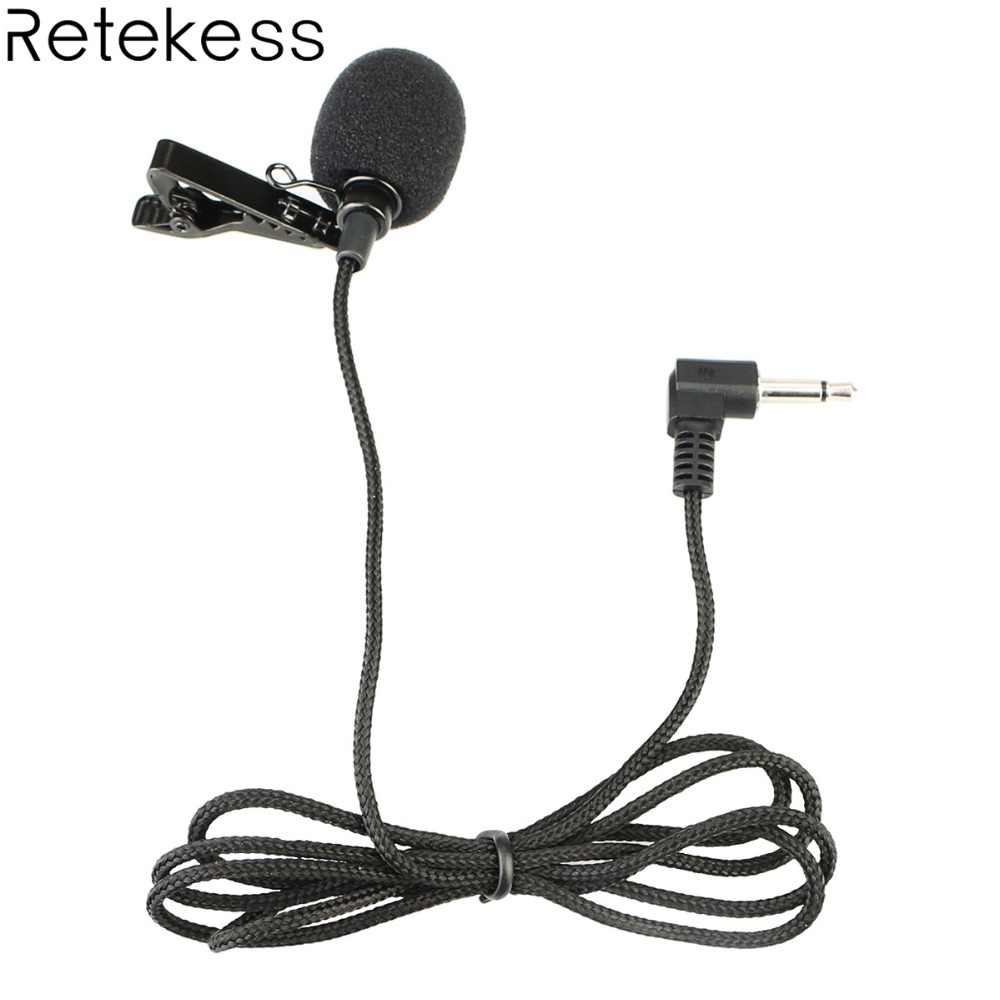 Portable Clip-on Lapel Microphone Mic 3.5mm Jack Wired Microphone Hands-free For Tour Guide System Lavalier Microphone F4511B