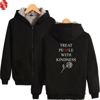 New Harry Styles Thick Winter Warm Hoodie Parkas Zipper Fashion High Quality Coat Cotton Cool Oversized Parkas