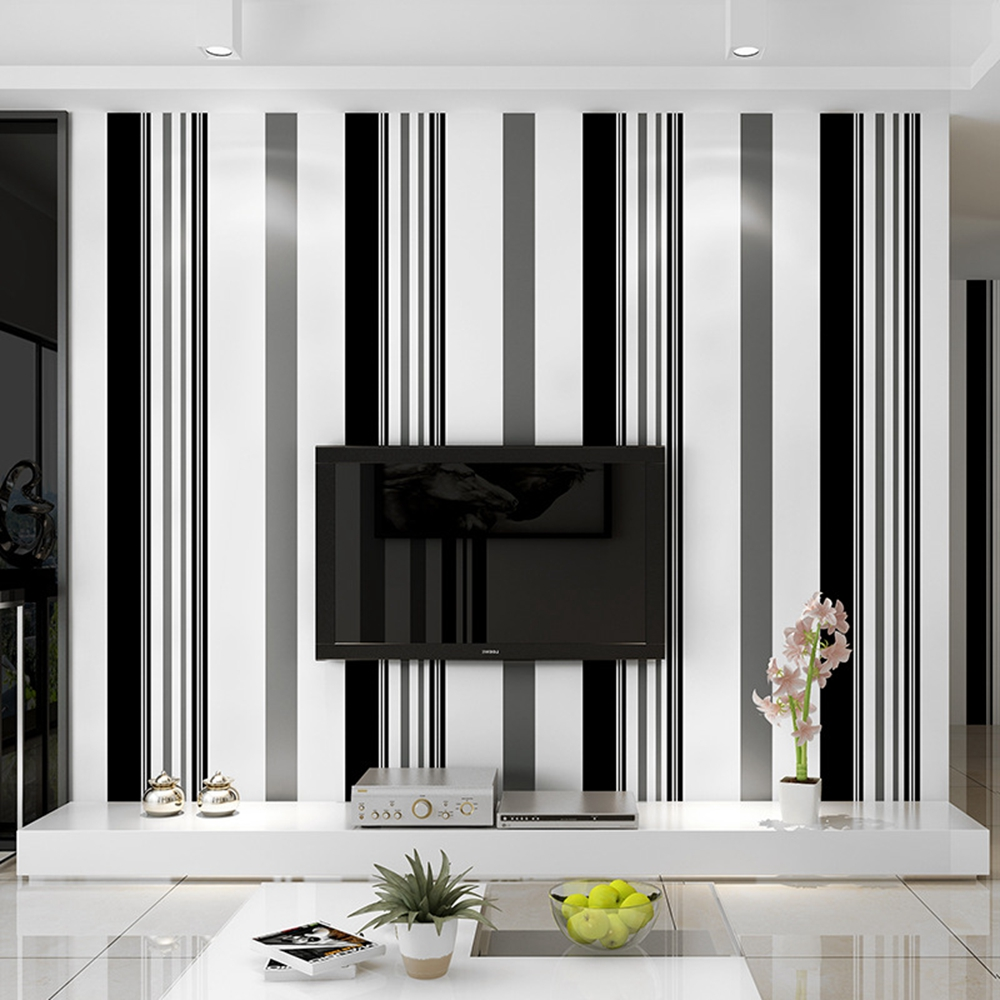 Modern Feature Brief Vertical Stripes Wallpaper Striped Wall Coverings Papel De Parede Home Decoration Non Woven DesignModern Feature Brief Vertical Stripes Wallpaper Striped Wall Coverings Papel De Parede Home Decoration Non Woven Design