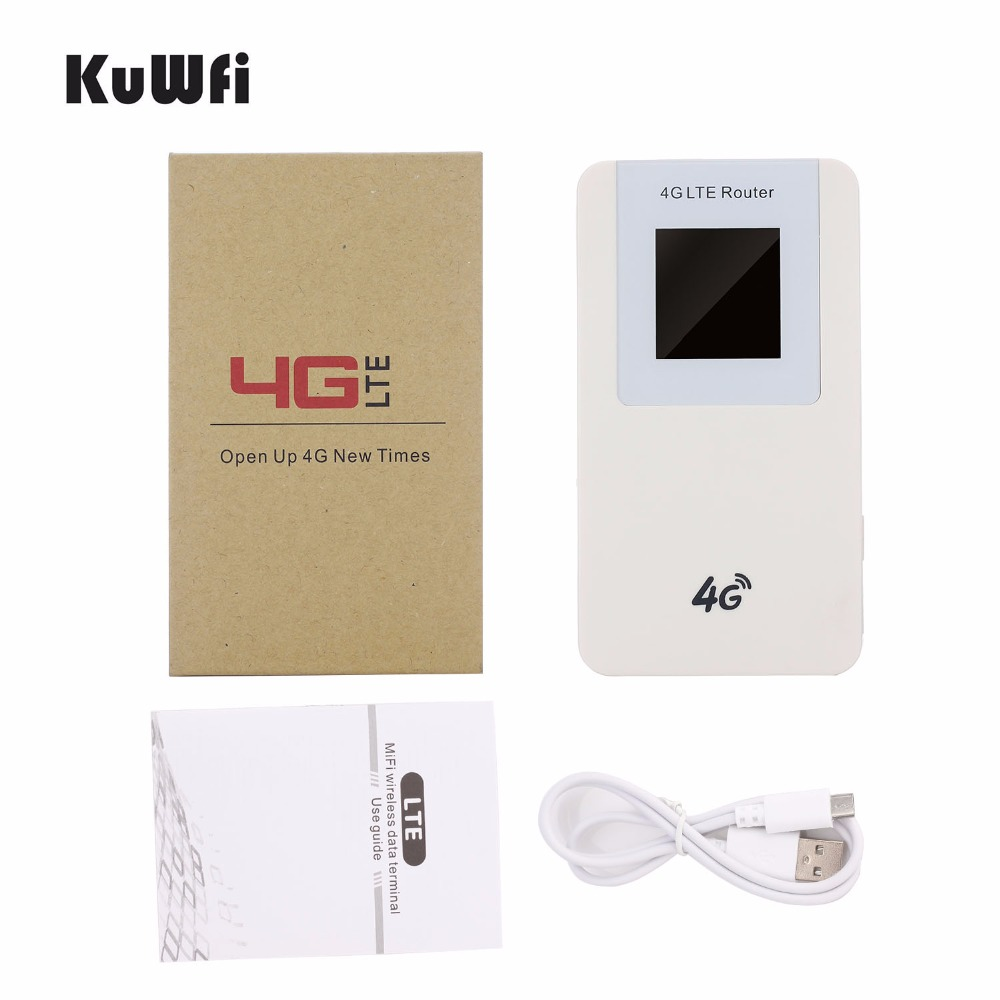 Image 5 - KuWfi 4620mAH Power Bank  LTE 4G Wifi Router Pocket 3G Wireless Router WPS with SIM card Slot for Travel up to 10 Wifi Users-in 3G/4G Routers from Computer & Office