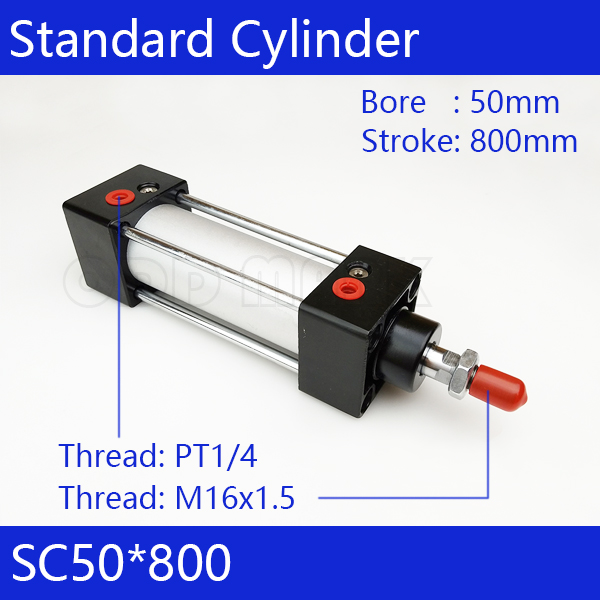 SC50*800  Free shipping Standard air cylinders valve 50mm bore 800mm stroke SC50-800 single rod double acting pneumatic cylinder sc32 800  free shipping standard air