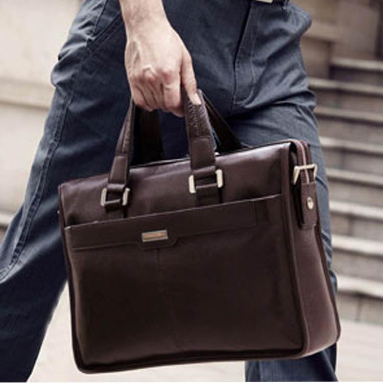 Business Men Luxury Shoulder Bags GENUINE Leather Tote Bag Men\'S Casual Crossbody Bag Men\'S Messenger Bags Briefcases For Man