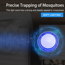 LED Mosquito Killer Lamp USB Anti Mosquito Electric Insect Killer Silent Mosquito Trap For Outdoor Bedroom Bug Zapper
