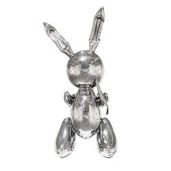 Jeff Koons Coelho Bonito Animais Escultura de Resina Decoração Para Casa Do Casamento Balão Coelho Estilo Nórdico Casa Acessórios de Decoração