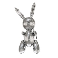 Jeff Koons Rabbit Cute Animals Resin Sculpture Wedding Decor Balloon Rabbit Nordic Style Home Decoration Accessories