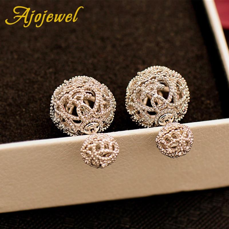 Ajojewel Diseño de lujo de doble cara Stud Pendientes Bolas Moda - Bisutería - foto 5