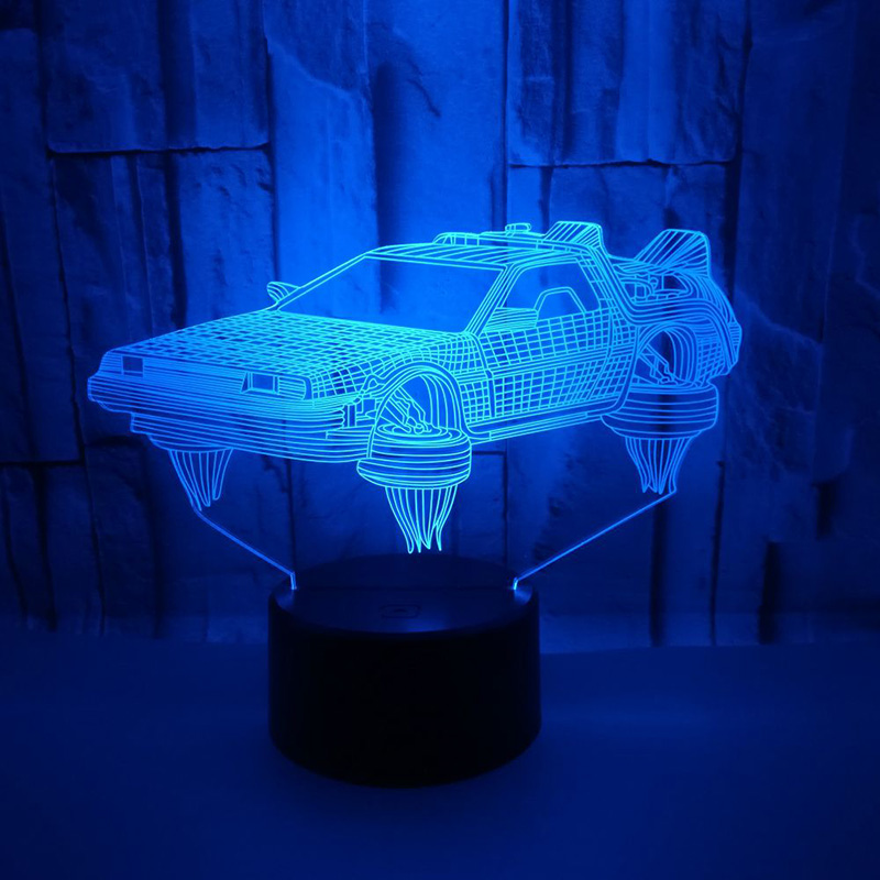 Touch USB Indoor Lighting Car Shape Small Night Light Novelty Led 3D Visual Night Light 7 Colors Changeable Desk Lamp