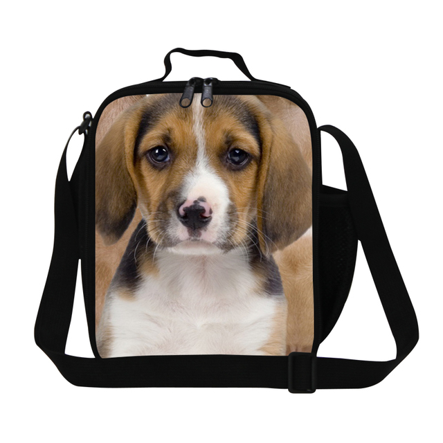 Girls Lunch Bags Insulated Dog Printing Lunch Cooler Bags for School Boys Cool Animal Lunch Container Cute Meal Bag for Women