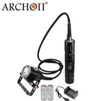Archon DH26/WH32 CREE LED Canister Handheld Diving Light Underwater Flashlight Scuba Dive Equipment with 26650 Battery