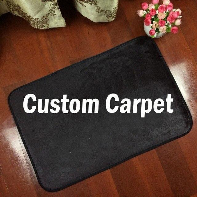 Custom logo brand your text photo Carpet Rug customized Flannel In door outdoor Floor Mat Carpet 5 size home decorate
