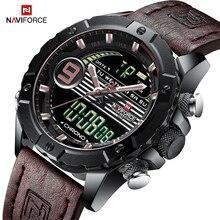 NAVIFORCE для мужчин многофункциональные часы Роскошные, спортивные и фирменные часы кварцевые светодиодный цифровой водостойкие наручные часы Relogio Masculino