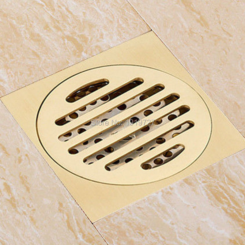 High Quality Promotion Polish Copper 100% Solid Brass Square Classic Style Bathroom Shower Floor Drain Washer Grate Waste Drain modern new oil rubbed bronze bathroom shower square floor drain washer grate waste drain 4 page 1