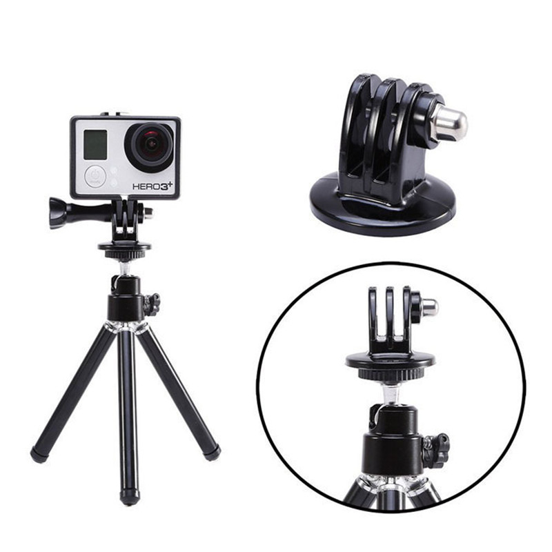 For Gopro Accessories Mount Tripod Mount Adapter for Go pro Hero 4 5 3 Hero4 HERO5 SJ4000 SJ5000 SJ6000 M10 M20 Xiami Yi 4K GP03