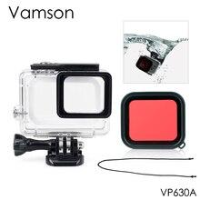Vamson для Go pro 45m водонепроницаемый для Gopro Hero 7 6 5 камера с базовым креплением защитный красный фильтр