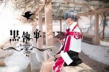 купить FREE SHIPPING Japanese Anime Black Butler/Kuroshitsuji Ciel Phantomhive Cosplay Costume Halloween Party Cosplay Custom Any Size по цене 5274.98 рублей