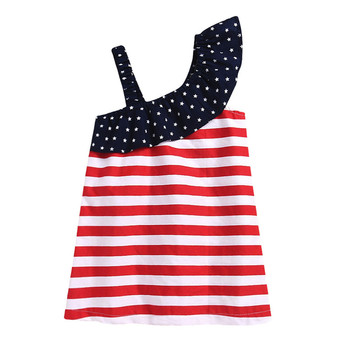Baby Girls Infant Kids 4th Of July Star Dress Clothes Sundress Casual Sets T# 3