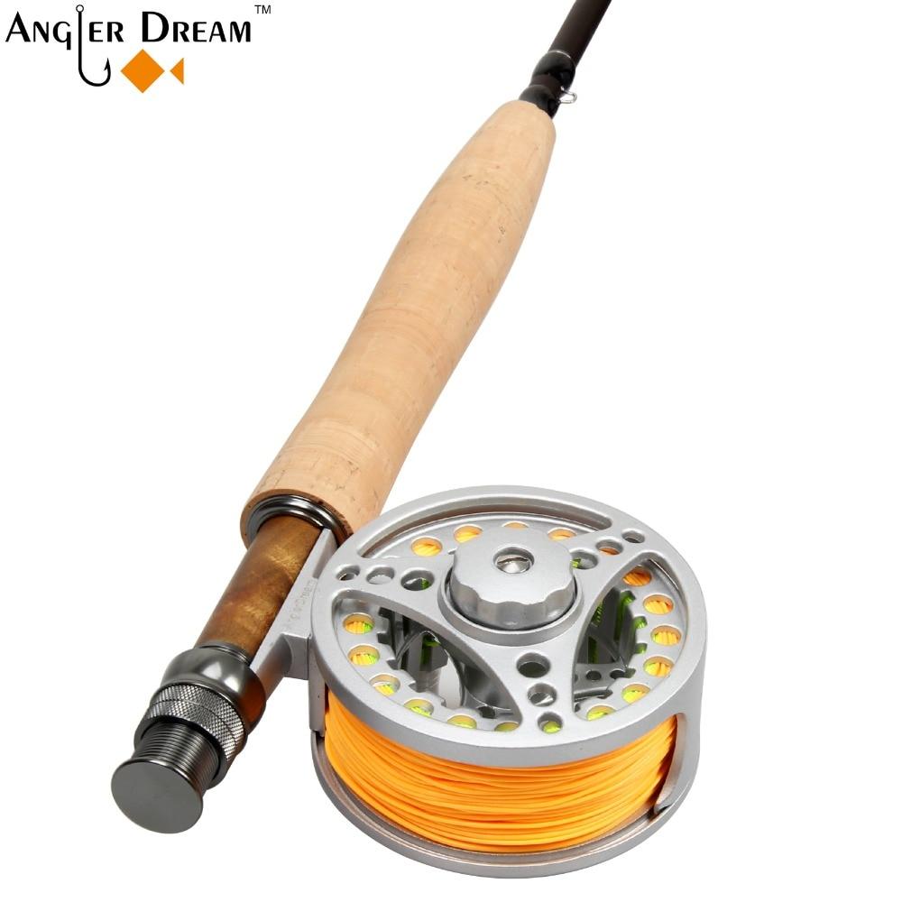 ذبابة الصيد كومبو 5WT 9FT من ألياف - صيد السمك