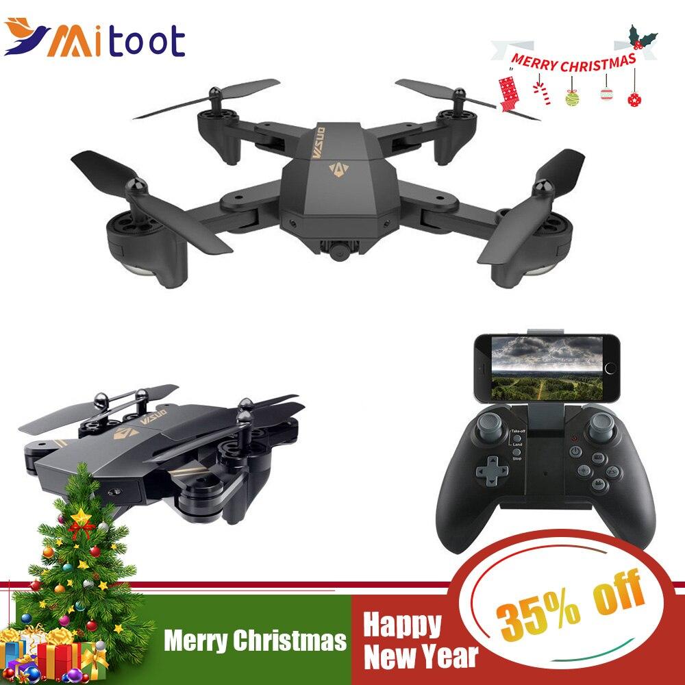 XS809HW XS809W Wifi FPV Zangão Dobrável Selfie Câmera HD Altitude Hold Quadcopter Zangão Com 0.3MP 2MP