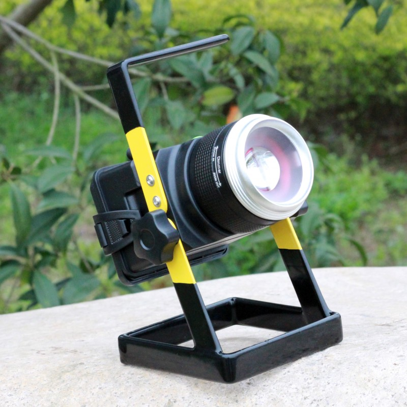YUPARD  XM-L T6 LED flood light spotlight 18650 rechargeable Searchlight long Range camping outdoor flashlight+charger cree xm l2 led flood light searchlight spotlight t6 led 3modes rechargeable flashlight 3 4200mah 18650 battery charger