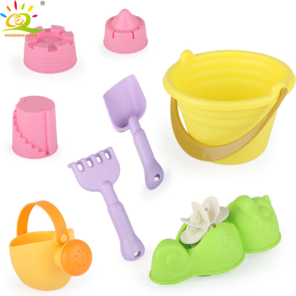 8 Piece Beach sand toys Sprinkler Bucket Shovel Mold Sets Play Sand Water Tools Outdoor Fun Summer Beach Toys for children