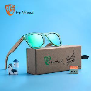 25de9ad5c06 HU WOOD Brand Design Frame Wooden Sunglasses for Child