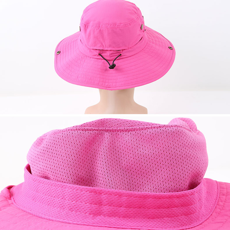 374a6aa4c93f6 Waterproof Women Foldable Snapback Beach Hat Lady Summer Neck Face  Protection Girl Sun Hat Hiking Trip Fishing Cap Panama Female-in Beach Caps  from Sports ...