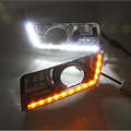 Car Styling LED Daytime Running Light DRL Fog Lamp Turning Signal Decorative Accessories For SRX 2012 2013 2014