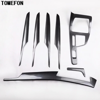 TOMEFON For BMW X1 F48 2016 2017 2018 ABS Carbon Fiber Paint Interior Front Gear Shift Panel Inner Side 4 Door Decoration LHD