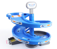 DIY Assemble Accessories Turntable Lift For Magic Miraculous Glowing Race Track Flashing LED Car Puzzle Toys