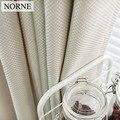 NORNE однотонные занавески из искусственного льна  затемняющие занавески для гостиной  спальни  кухонные оконные шторы  Дверные Шторы