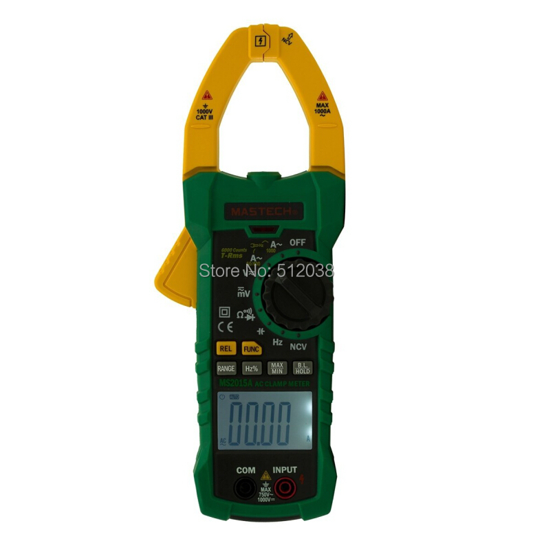 ФОТО MS2015A AC Digital Clamp Meter Multimeter With NCV Large Jaw-40MM 1000A