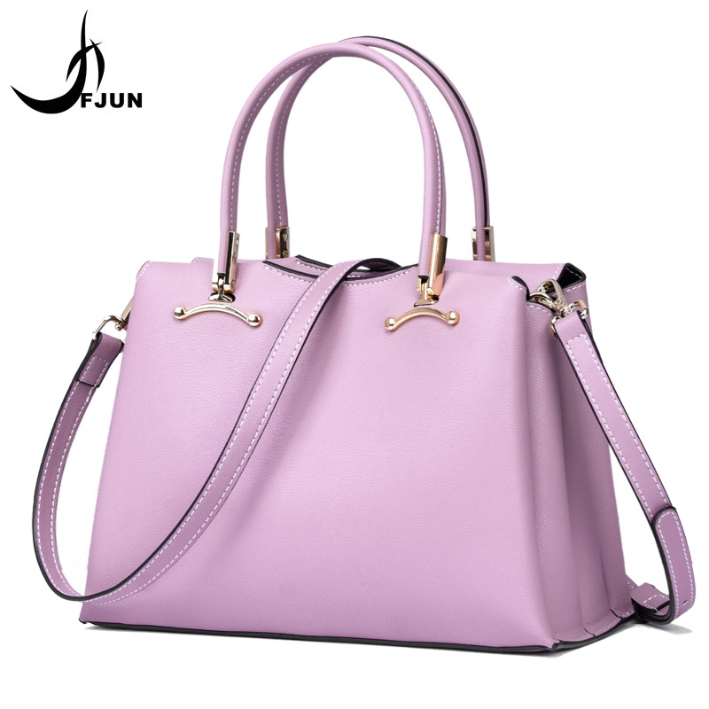 FJUN Female first layer cowhide handbag 2018 new Fashion leather woman bags Europe and the United States casual big shoulder bag