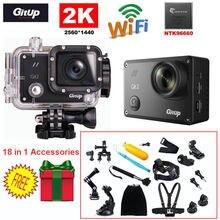 Gitup Git2 Действий Камеры 16MP HD 2 К 30fps 1080 P Full HD WiFi DV Action Sports Helemet Камеры + 18 в 1 Аксессуары