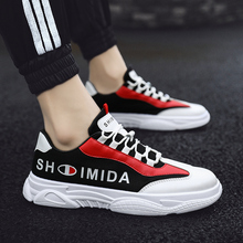 Men Shoes 2019 New Man Casual Fashionl Sneakers Lace-up Vulcanize Comfortable Autumn Flat
