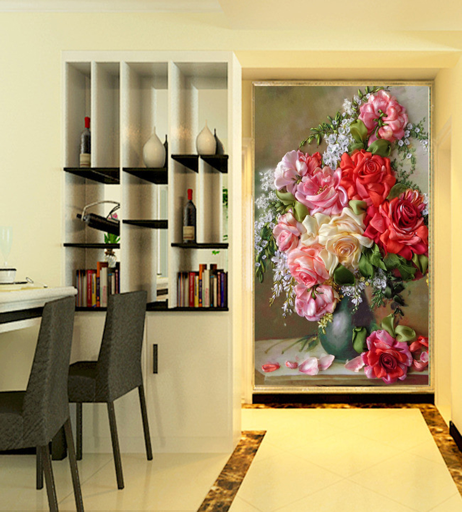 Porch Corridor Restaurant Vase Canvas Oil Painting On The Wall Art ...