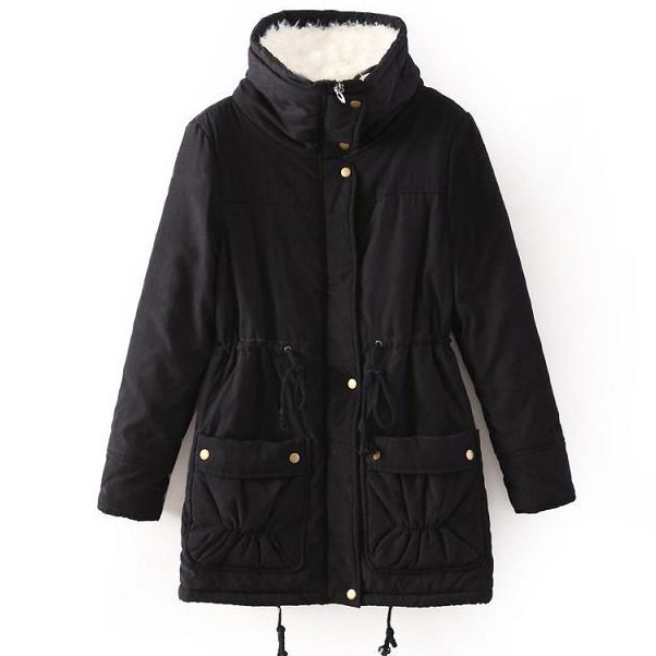 e68fd3e2fe9 New 2018 Winter Coat Women military Outwear Medium Long Wadded Hooded snow Parka  thickness Cotton Warm casual Jacket Plus Size-in Parkas from Women s ...
